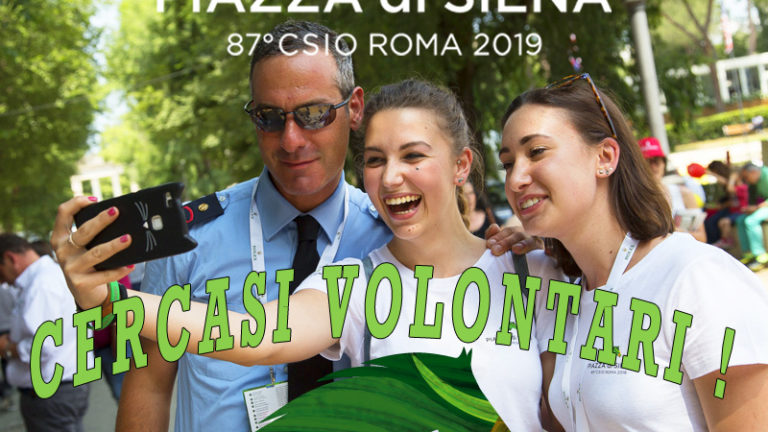 Volontari Piazza di Siena, al via le candidature